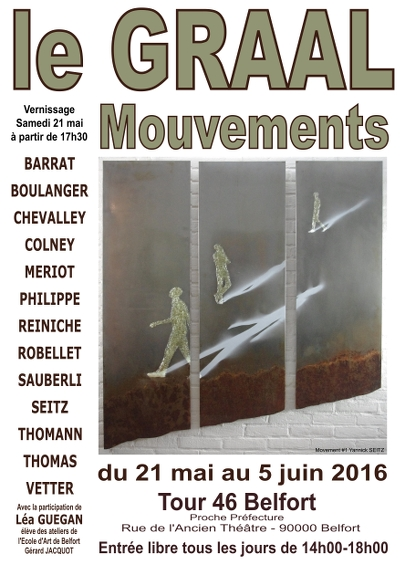 "Exposition ""Mouvement"" Collectif LE GRAAL"